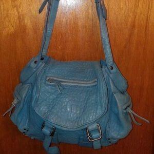 Jérôme Dreyfuss Twee blue leather cross body bag